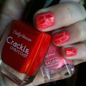 crackle valentines nails