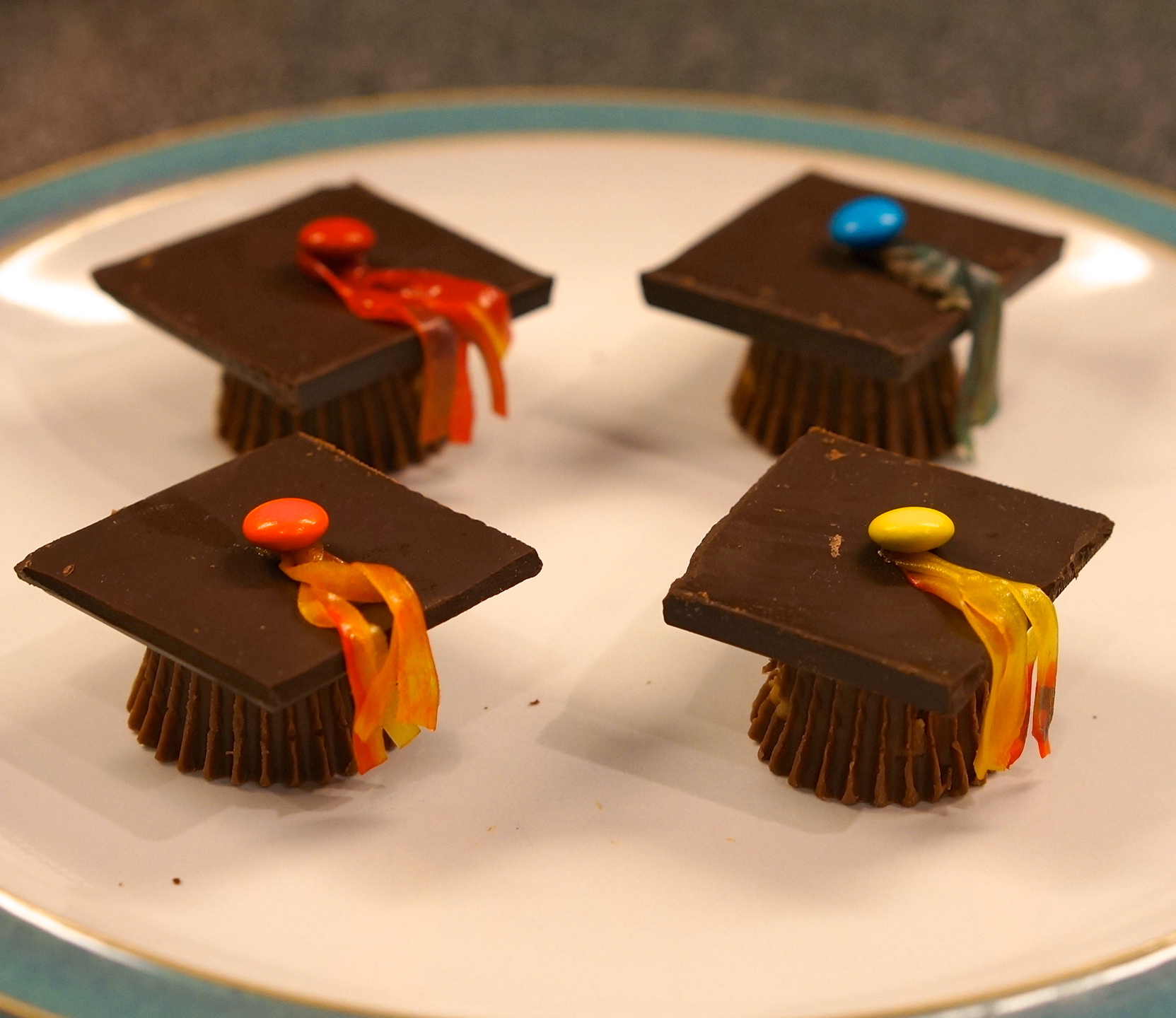Adorable Chocolate Graduation Cap Dessert