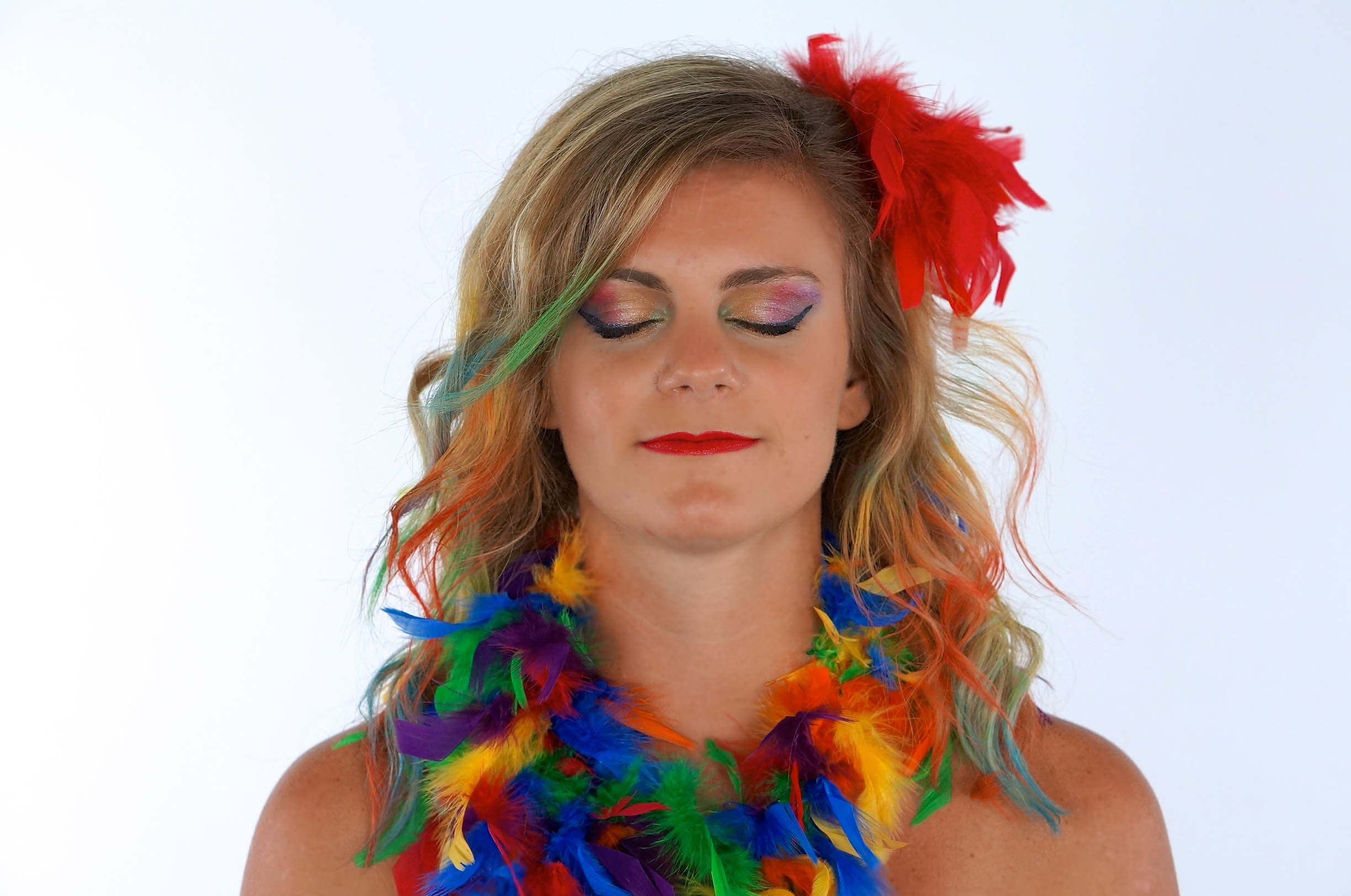 DIY Parrot Costume Makeup