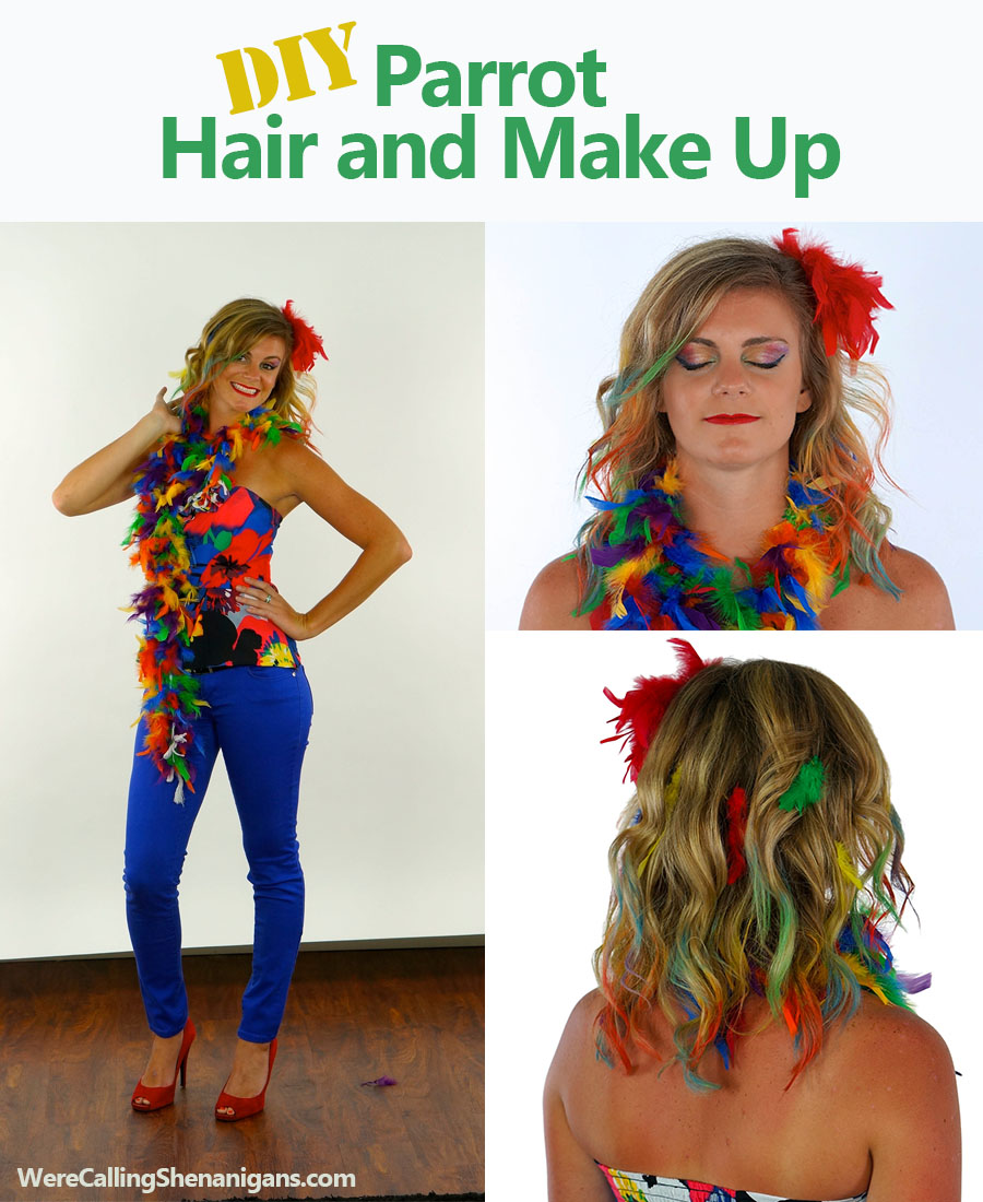 DIY Parrot Hair and Make up