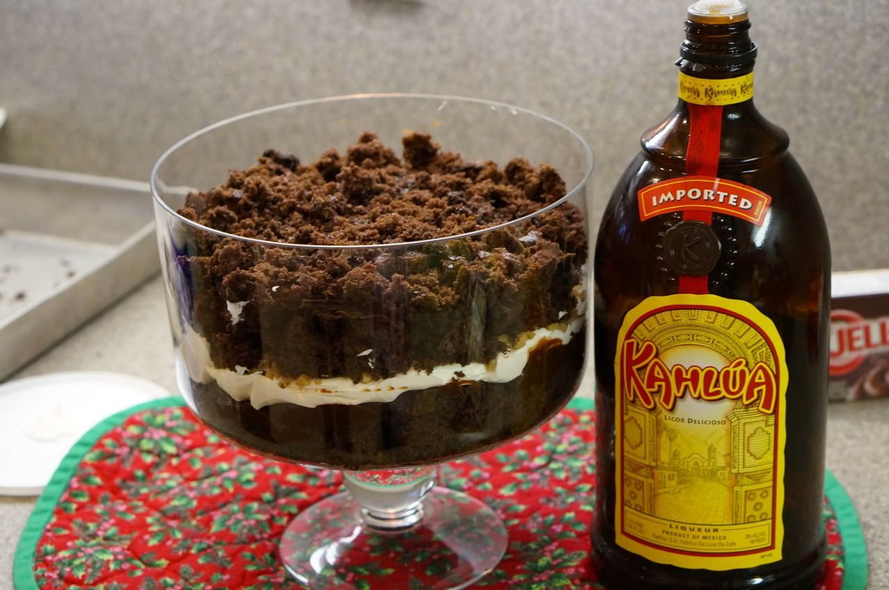 another layer of cake and 2 tablespoons of kahlua