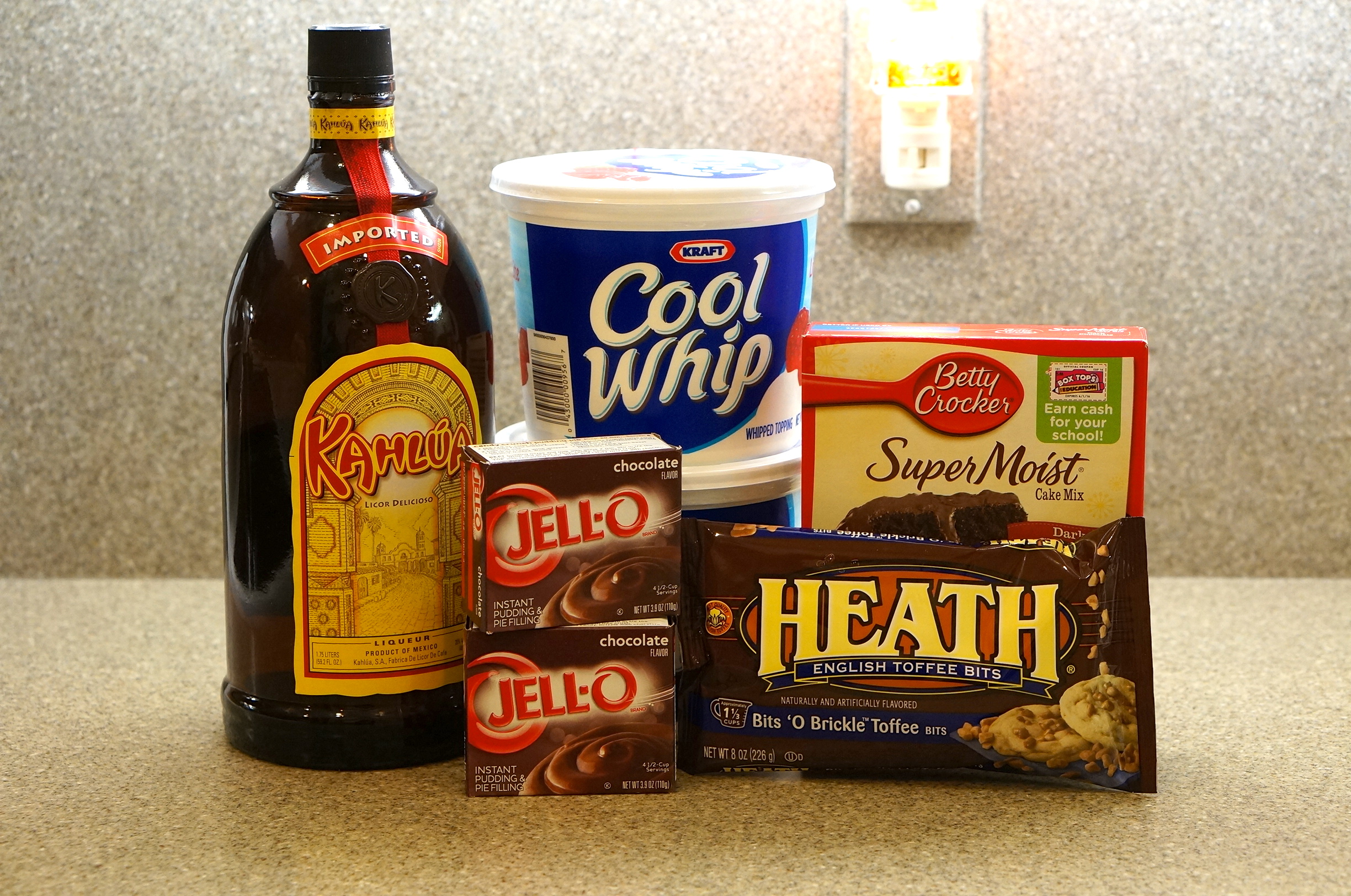 Kahlua Trifle ingredients