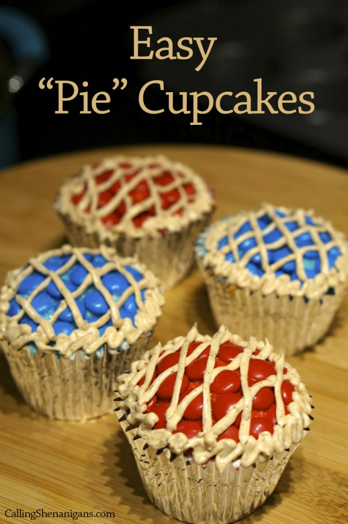 Cupcakes that look like pies