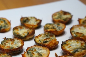 spinach dip mini bread bowl appetizer recipe