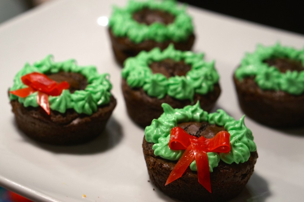 how-to-make-wreath-brownies
