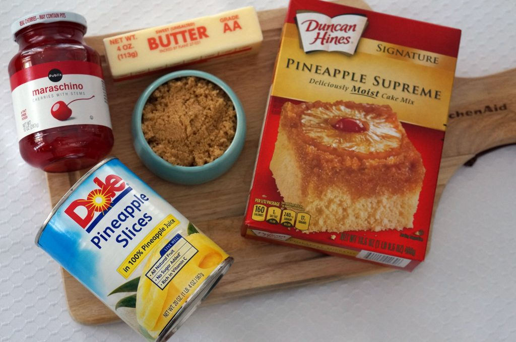 pineapple-upsidedown-cupcake-ingredients