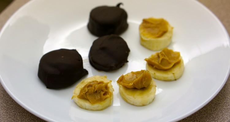 Banana Chocolate Peanut Butter Bites