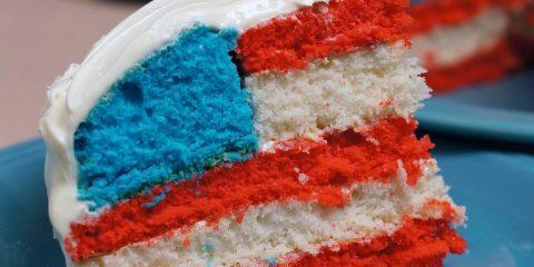 US-flag-cake