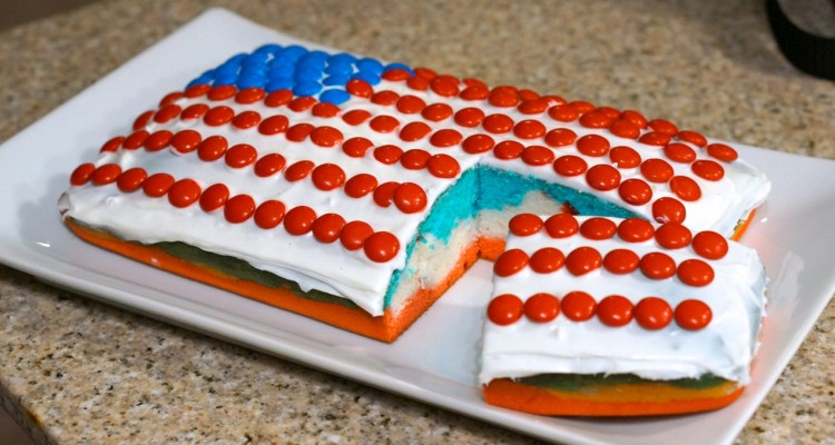 Red-white-and-blue-cake